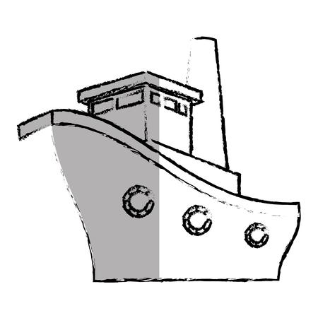 ship boat cruise icon vector illustration design Çizim