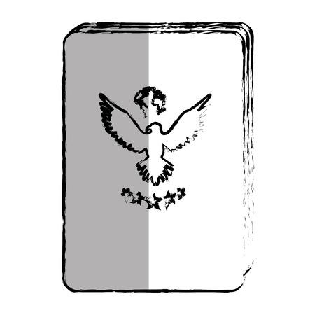 passport document isolated icon vector illustration design
