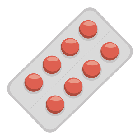 dosage: pills drugs isolated icon vector illustration design