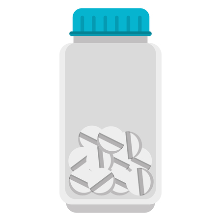 pills drugs isolated icon vector illustration design