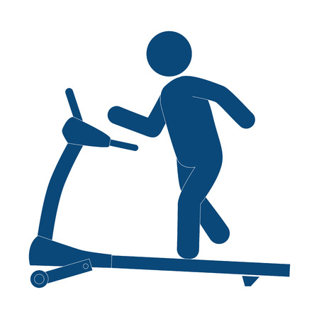 Gym treadmill machine icon vector illustration design Ilustração