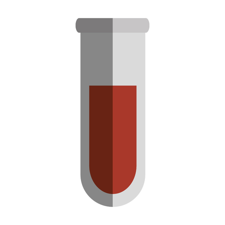 laboratory equipment: tube test isolated icon vector illustration design