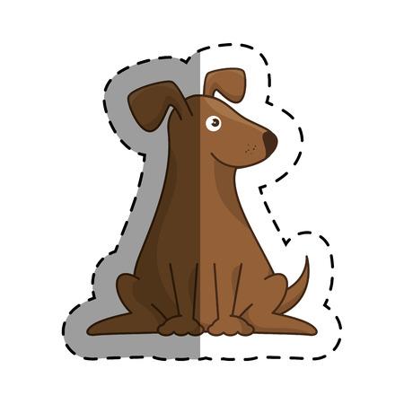 cute dog mascot isolated icon vector illustration design Illustration