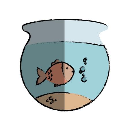 fish aquarium pet isolated icon vector illustration design Illustration