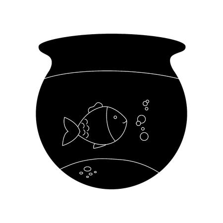 fish tank: fish aquarium pet isolated icon vector illustration design Illustration