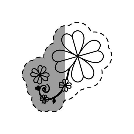 saint patrick clover leaf vector illustration design Illustration