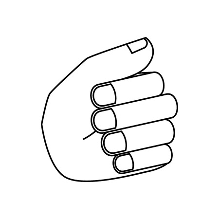 hand human fist isolated icon vector illustration design