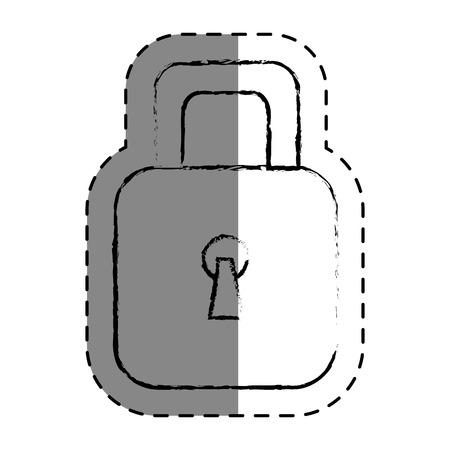 Cadenas sécuritaire isolé icône du design d & # 39 ; illustration vectorielle Banque d'images - 75461552