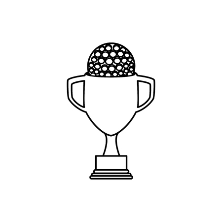 trophy golf isolated icon vector illustration design Illustration