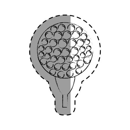 golf sport ball isolated icon vector illustration design Illustration
