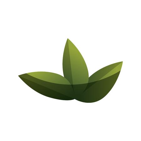 vegetate: cute leafs decorative icon vector illustration design Illustration