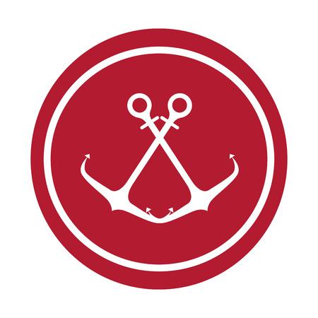 Anchor maritime seal icon vector illustration design