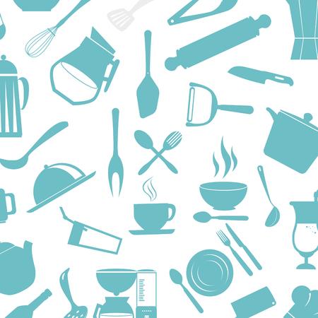 Kitchen cutlery tools icons vector illustration design Иллюстрация