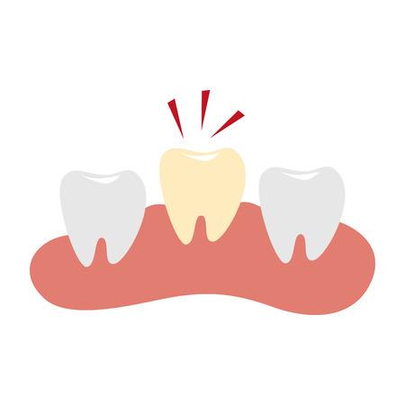 Isolated dental healthcare treatment icon vector illustration design Illustration