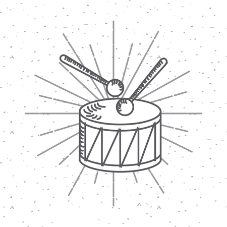 Drum,  USA independence day related icons.
