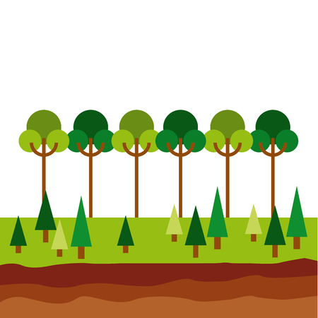 Forest icon - save the planet concept.