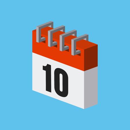 event planner: calendar isometric icon over blue background. colorful design. vector illustration Illustration