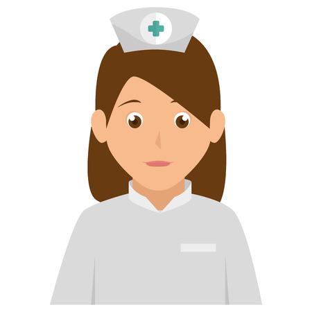 trainee: nurse avatar character icon vector illustration design