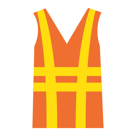 Illustration of a construction jacket isolated icon vector illustration design