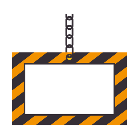 dangerous construction: Illustration of a information label icon vector illustration design