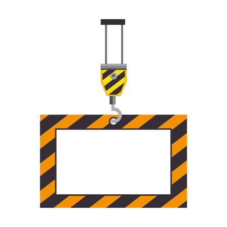 Illustration of a construction information label icon vector illustration design