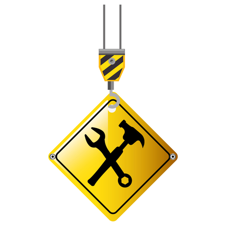 Illustration of a construction crane isolated icon vector illustration design