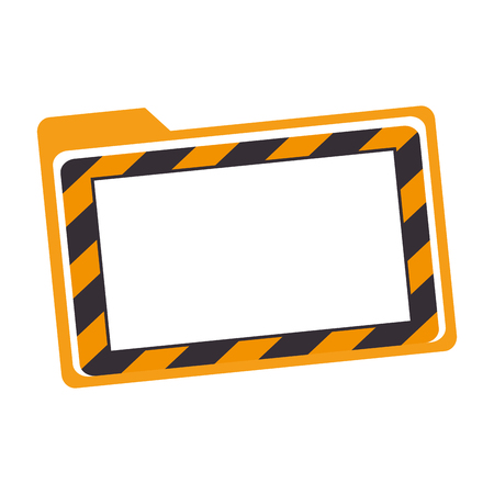 reconstruction: construction information label with frame icon vector illustration design