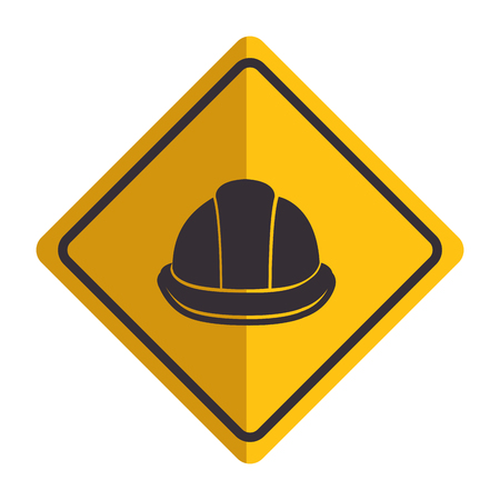 Construction helmet isolated icon illustration design.