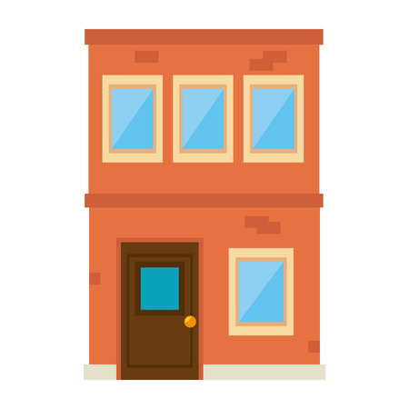 stage door: Building construction isolated icon illustration design.