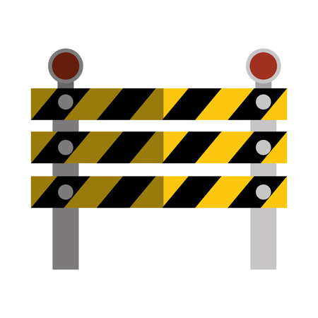 in the reconstruction: construction barrier isolated icon vector illustration design