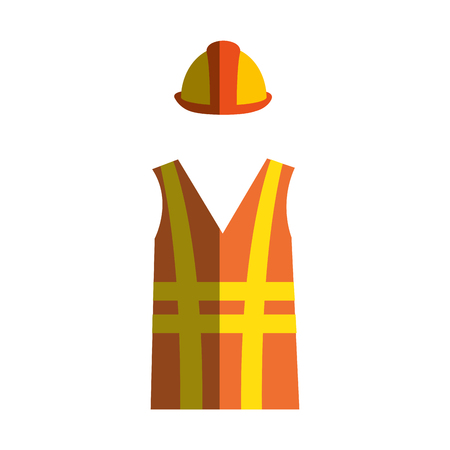 construction jacket isolated icon vector illustration design