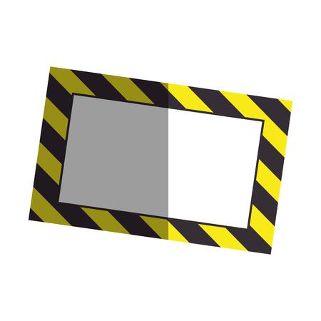 reconstruction: construction information label icon vector illustration design Illustration