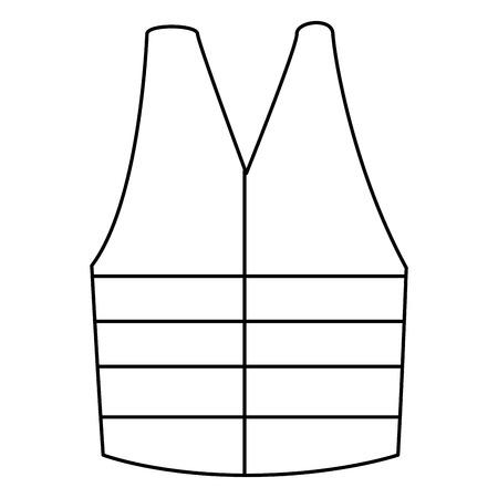 construction jacket isolated icon vector illustration design