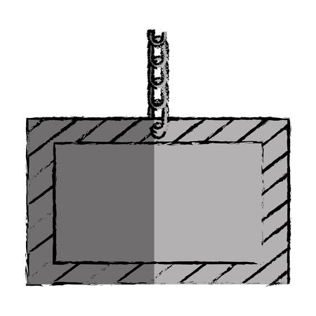 construction information label icon vector illustration design Illustration