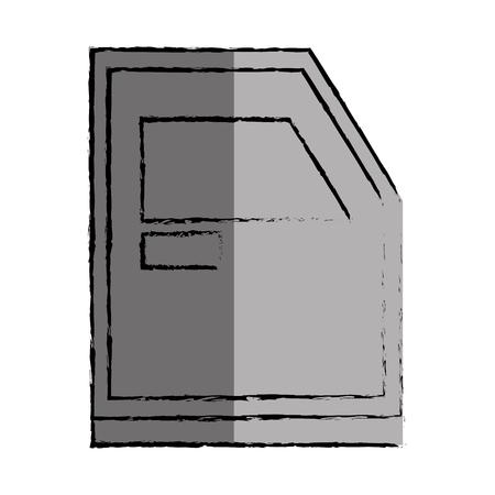 metall: bunker truck door icon vector illustration design Illustration