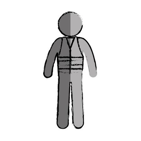 construction worker avatar character vector illustration design