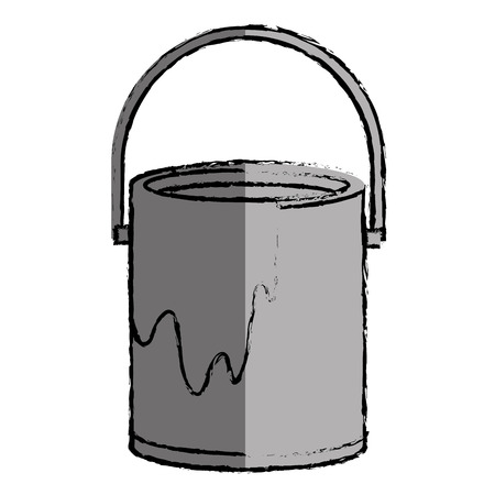 paint can: paint pot isolated icon vector illustration design Illustration