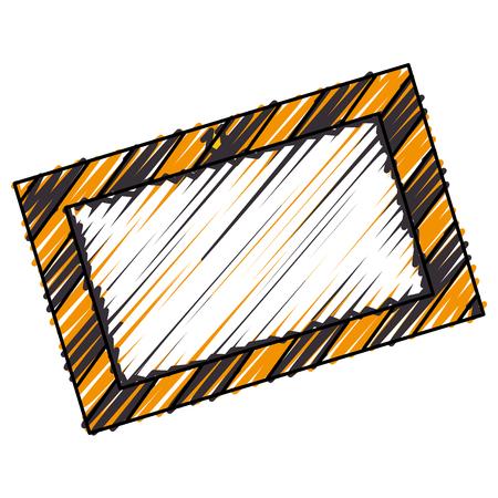 dangerous work: construction information label icon vector illustration design Illustration