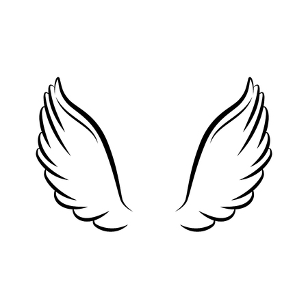 angel wings isolated icon vector illustration design Imagens - 75594045