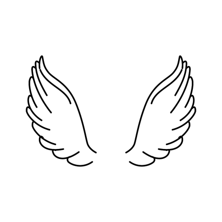 angel wings isolated icon vector illustration design