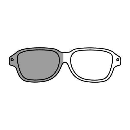 uv: sunglasses summer isolated icon vector illustration design