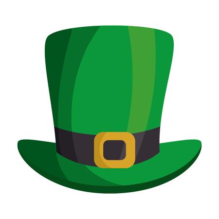 celtic background: leprechaun hat isolated icon vector illustration design