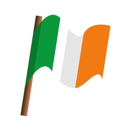 ireland country flag isolated icon vector illustration design Illustration