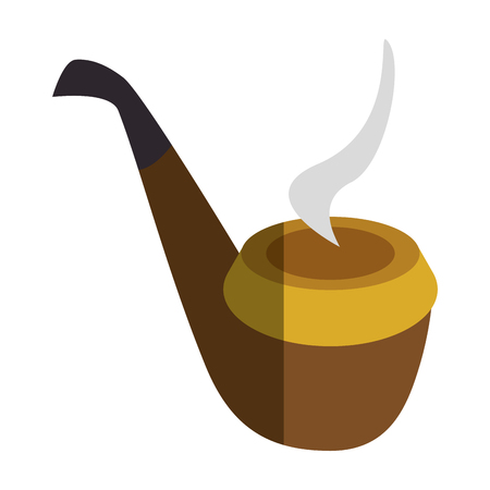 pipe wooden isolated icon vector illustration design