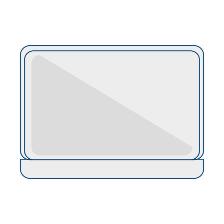 lcd: computer laptop isolated icon vector illustration design Illustration