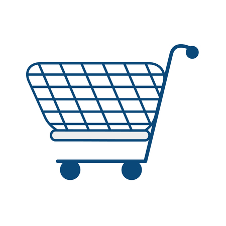 simple store: shopping cart isolated icon vector illustration design