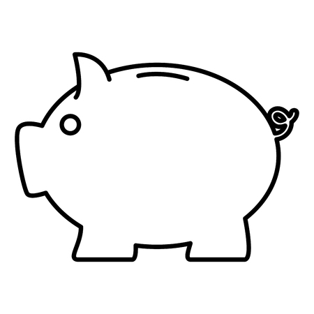 piggy savings isolated icon vector illustration design Illustration