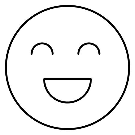 face emoticon isolated icon vector illustration design