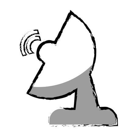 antena: antena satellite isolated icon vector illustration design