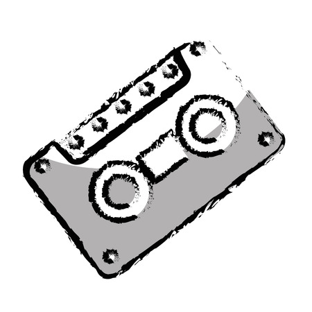 retro cassette isolated icon vector illustration design Illustration